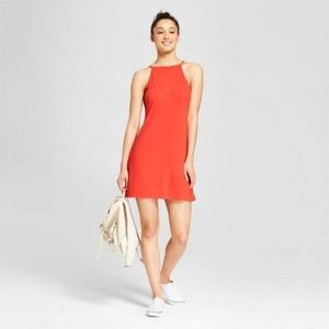 Women's Ribbed Scoop Back Tank Dress - Mossimo